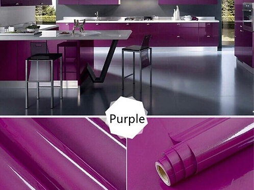 PVC Self Adhesive Wallpaper Furniture Wall Sticker Solid Color Waterproof