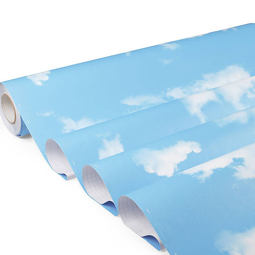 Wallsticker Dinding Self-adhesive Waterproof blue sky with clouds DIY waterproof