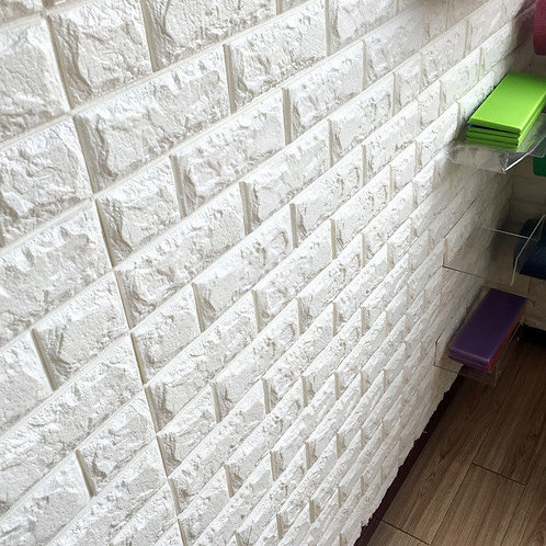3D Self Adhesive Brick Wall stickers PE Foam wallpaper DIY Decoration waterproof