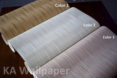 Stripes wavey 3D wallpaper with texture effect