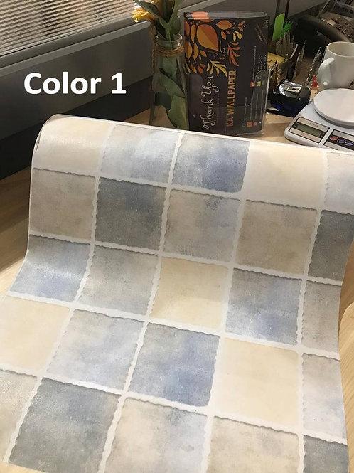 Wallsticker Dinding Self-adhesive Waterproof modern squares ceramic like