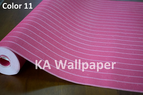 Plain Colors Strips Deep Embossed Glittering Wallpaper