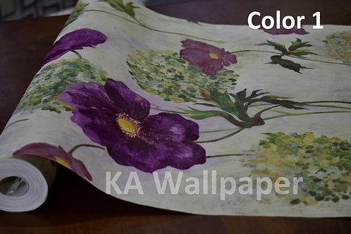 Flower Oil Painting Pattern Wallpaper