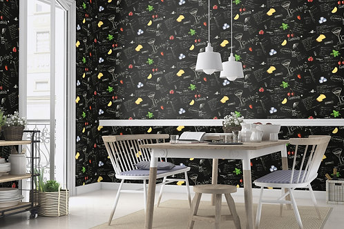 Premium quality texture face Words pattern Germany made wallpaper