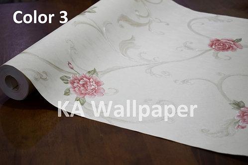 Floral Deep Embossed wallpaper