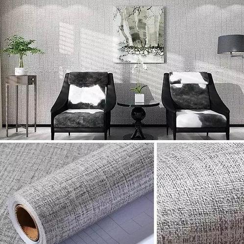 Linen Wallsticker Dinding Self-adhesive Waterproof Wallpaper DIY waterproof