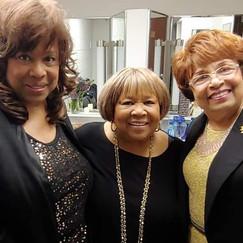 Cynthia, Grammy Award Winner and Friend, Mavis Staples and Flonzie.
