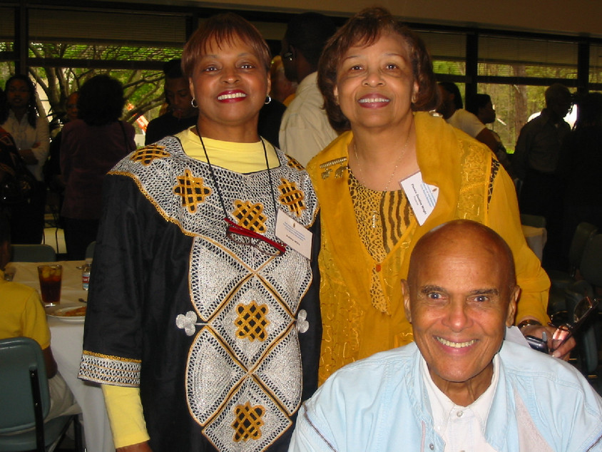 Debbie Willis, activist and Oscar winner Harry Belafonte and Flonzie