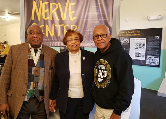 Dr. Bernard Lafayette, Flonzie and Hollis Watkins.