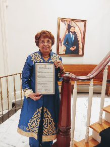 Flonzie is honored at Jackson, MS City Hall.
