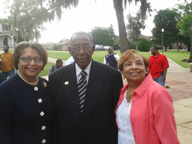 Tougaloo College President Dr. Beverly Hogan and Mayor Charles Evers (brother of the late Medgar Evers).