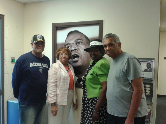 The late Claude McInnis (NAACP), Flonzie, Mrs. Ineva Mae Pittman and the late George Greene.