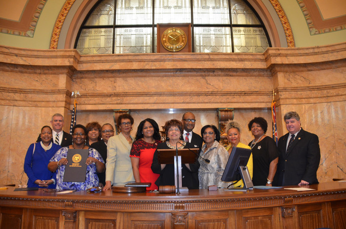 Flonzie is honored by the Mississippi House of Representatives sponsored by Rep. Kathy Sykes.