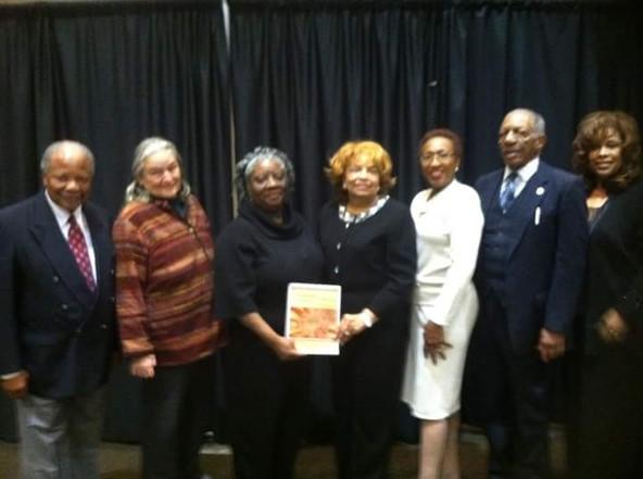 Civil Rights Veterans including Charles McLaurin, Harriet Tanzman, Cynthia Dorsey Smith, Flonzie, Frankye Adams Johnson, Rev. Willie Blue and Cynthia Palmer.