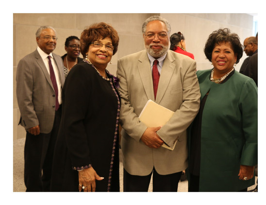 Flonzie, Dr. Lonnie Bunch and Reena Evers Everette.