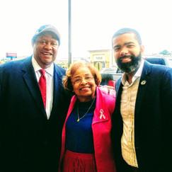 Jackson City Councilman Kenneth Stokes, Flonzie and Jackson, MS Mayor Chokwe Antar Lumumba.