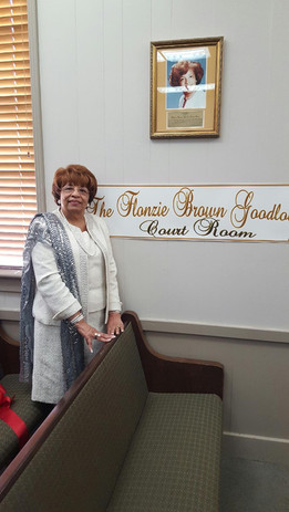 """The City of Canton, MS renamed the City Hall Court Room """"The Flonzie Brown Goodloe"""" courtroom."""