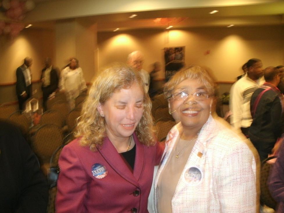 Senator Debbie Wasserman Schultz and Flonzie.