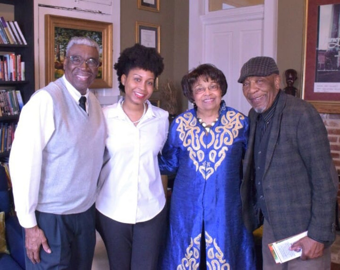 Dr. Dolphus Weary, Shandra Roby, Flonzie and Dr. John Perkins.