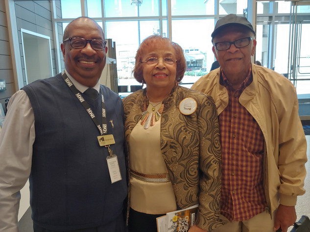 Freedom Rider Hezekiah Watkins, Flonzie and SNCC veteran Hollis Watkins.