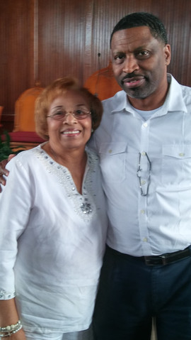 Flonzie and NAACP National President Derrick Johnson