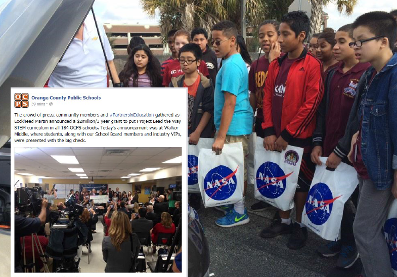 We created a STEM-tastic schools program for Kennedy Space Center and NASA.