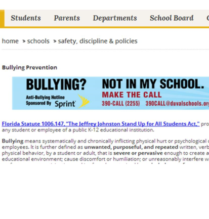 Sprint's anti-bullying hotline