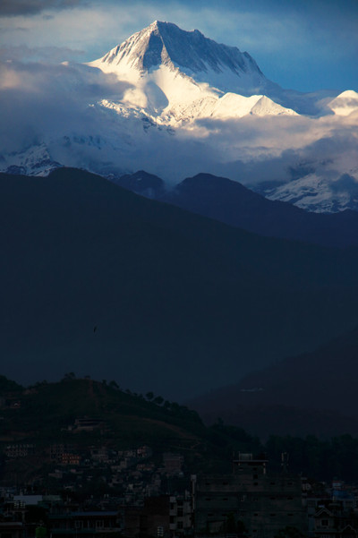 Annapurna II, Rooftop of Pokhara