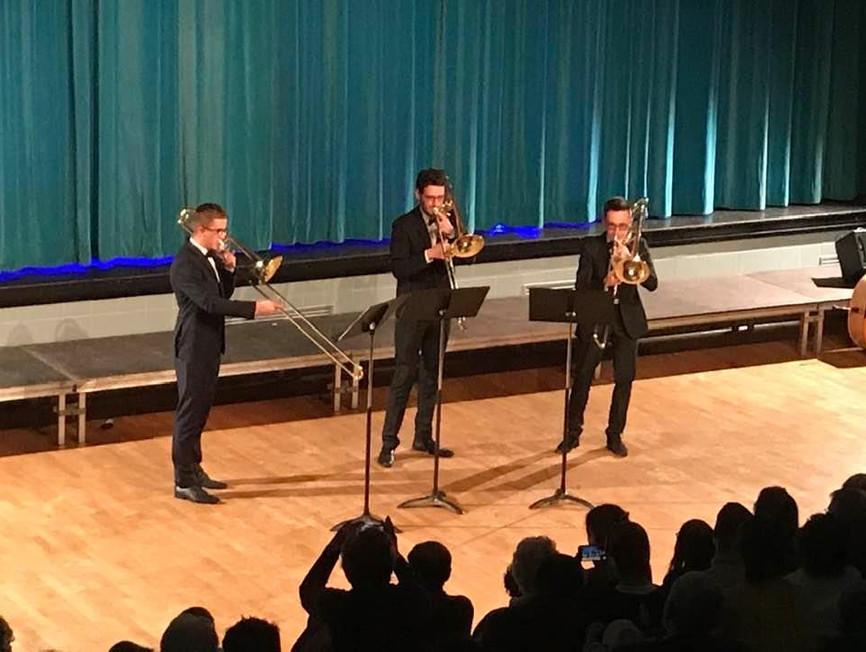 Concert lors du festival du Trombone à Moncé en Belin