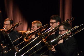 Pupitre de trombones du Brass Band Exobrass