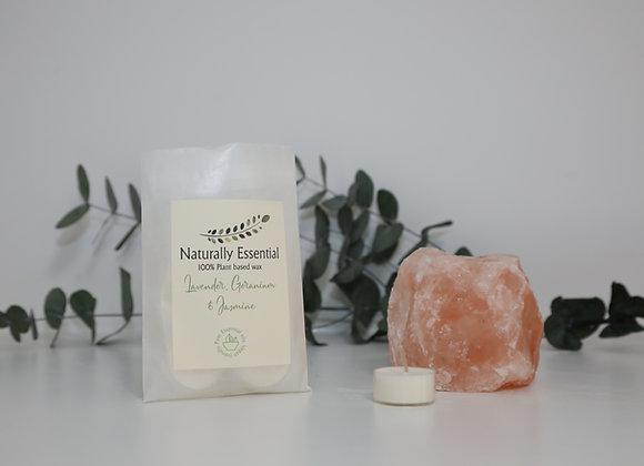 Himalayan Salt Crystal Tealight Holder & Tealights
