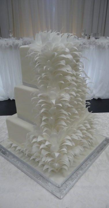 Feather wedding cake May 2010.jpg