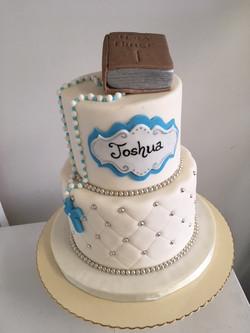 2 tier fondant communion cake
