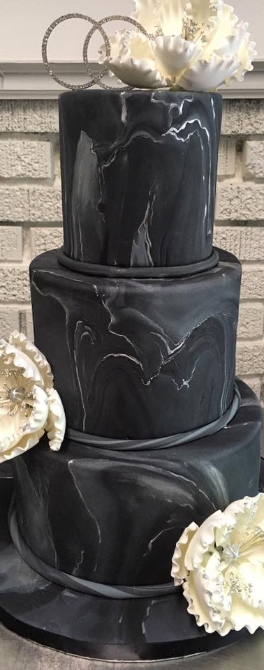 Black marble wedding cake.JPG