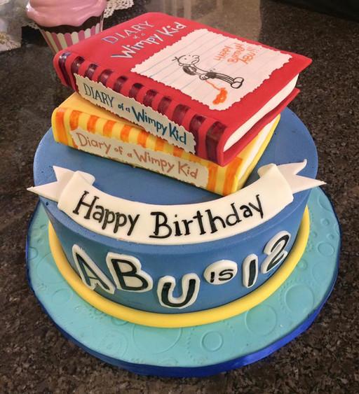 wimpy kid book cake.jpg