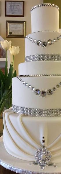 White and silver  bling wedding.JPG
