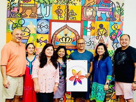 India Association Donates Artist Collage