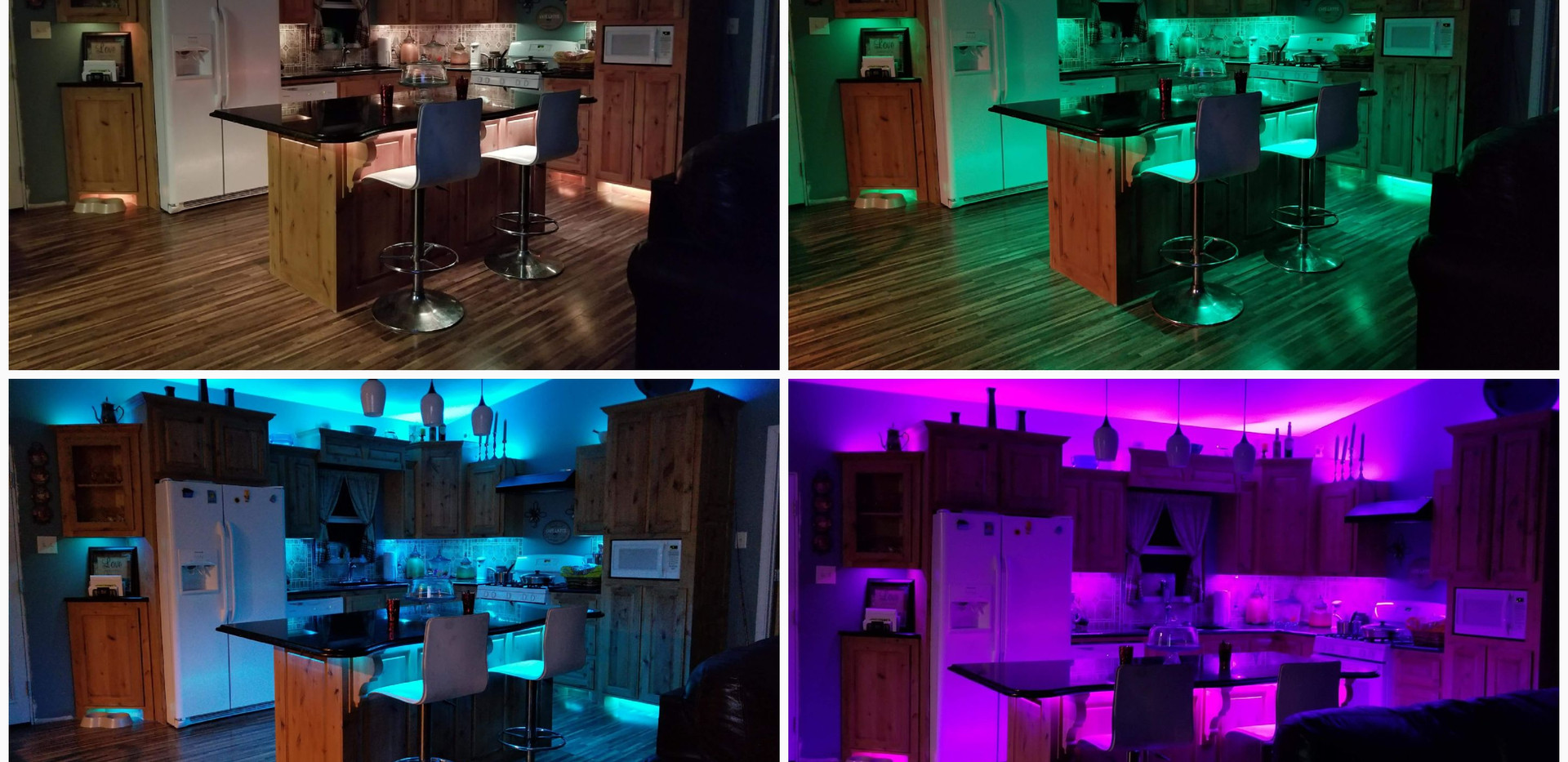 Give your living spaces a little something extra with color changing LED's