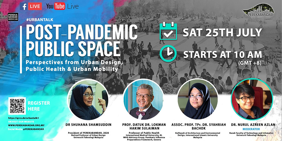 Post-Pandemic Public Space: Perspectives from Urban Design, Public Health, & Urban Mobility