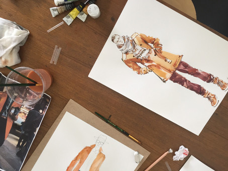 Water Color Fashion Drawing Workshop with Him HP