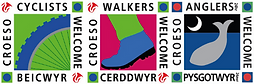 Cyclists, Walkers and Anglers are Welcome Logo