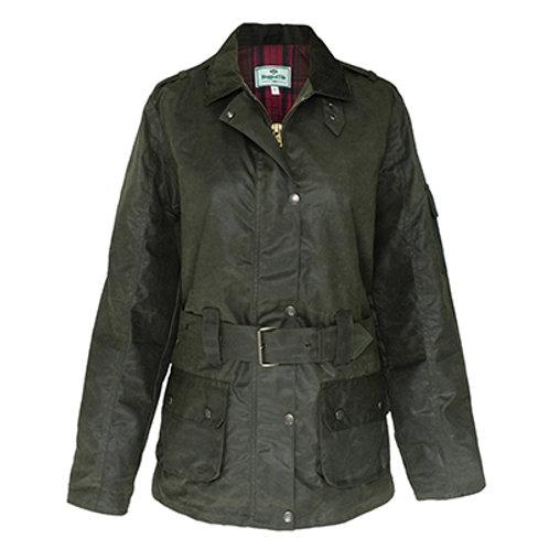 Cheltenham Ladies Belted Waxed Jacket