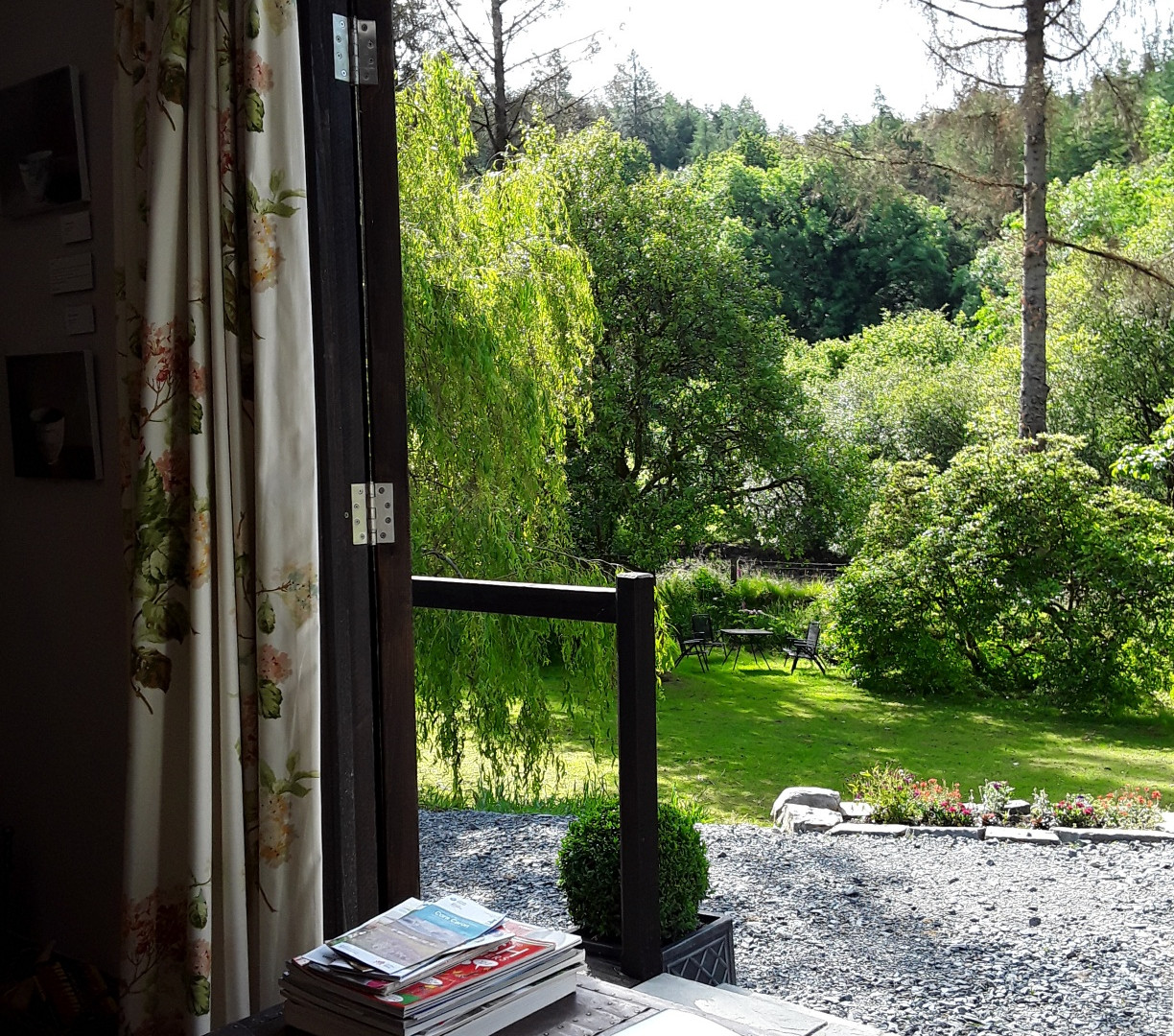Looking out from the lodge