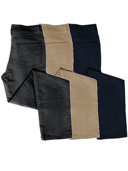 Ladies Low-Rise Stretch Moleskin Jeans (Straight Leg)