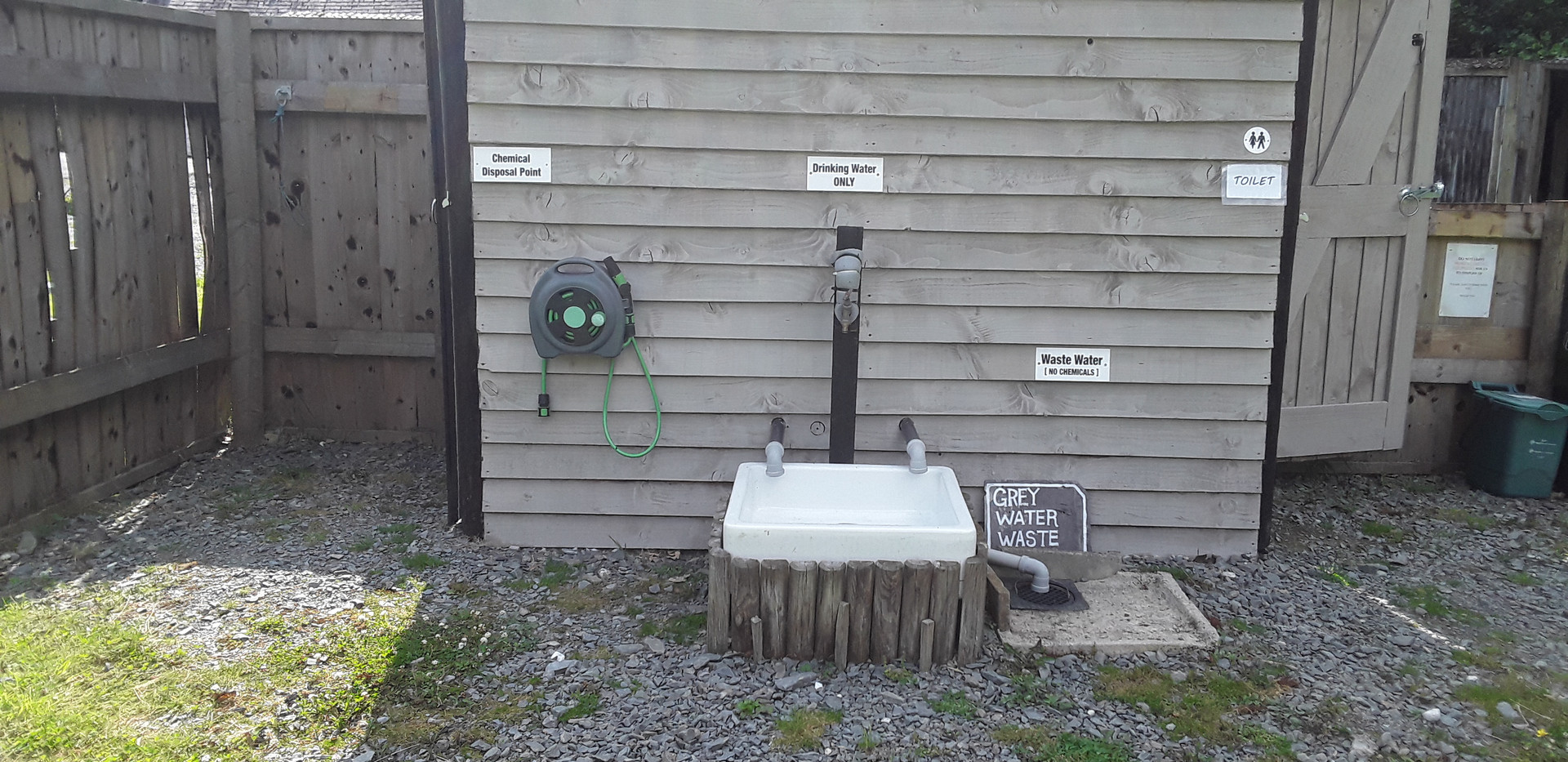 Campsite washing area