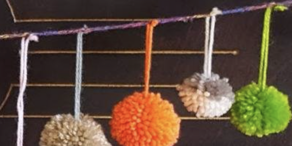 Craft Drop in Session at Quillies, Pompoms, stick weaving & more