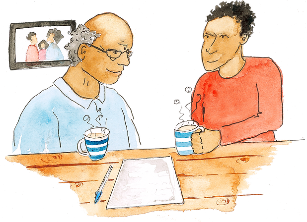 Cuppa and a Chat Illustration