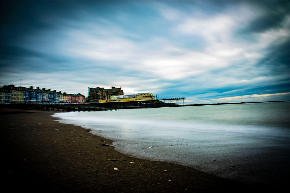 Long exposure shot of Aberystwyth