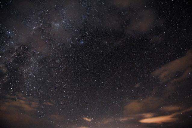 Long Exposure Shot with Milky Way in clo
