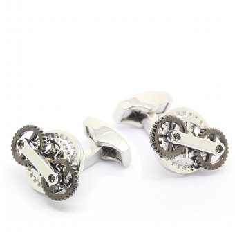 Steampunk Gunmetal Gear Cufflinks